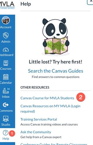 Canvas Course for MVLA Students